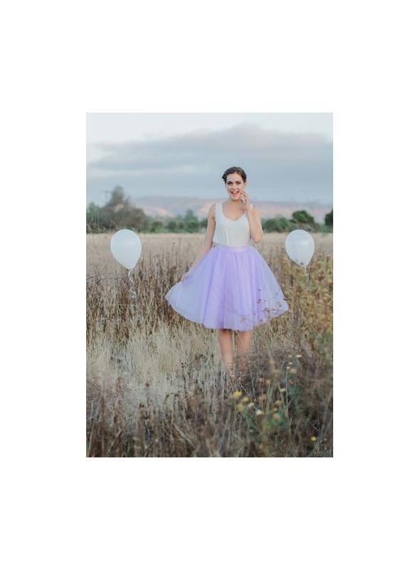 Lunicite MENTOLOVÝ TULIPÁN – exkluzívna tylová sukňa mentolová