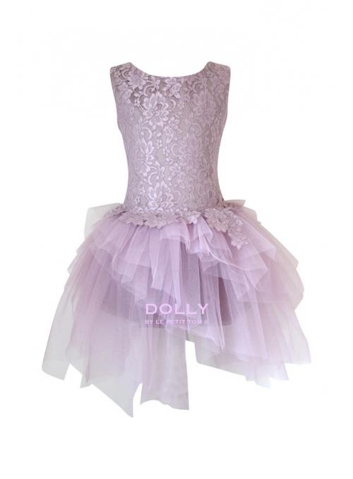 Exkluzivní Arabesque šaty s krajkou a tylem , mauve