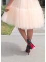 Lunicite BROSKYŇOVÉ LEKNO – exkluzívna nadýchaná sukňa – broskyňa